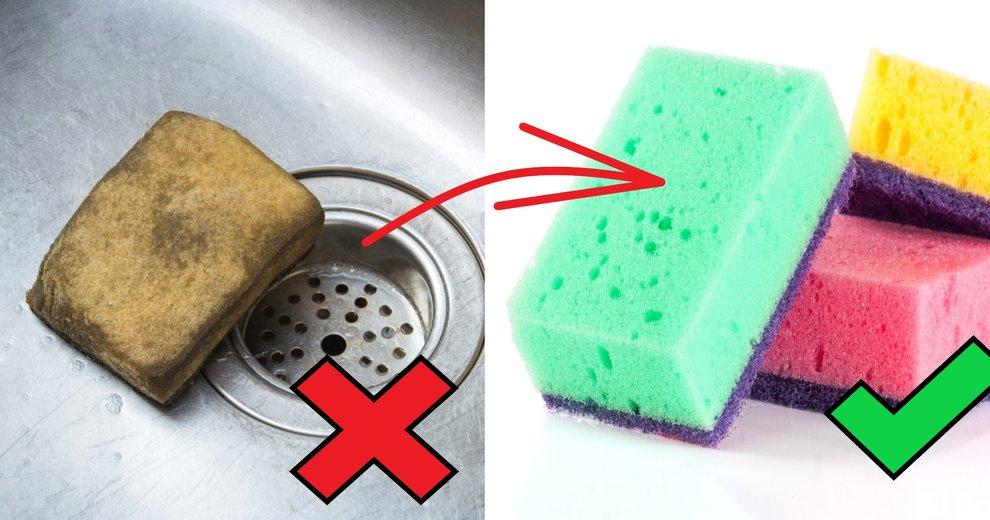 jak często należy zmieniać gąbki kuchenne