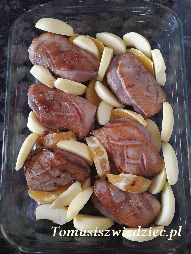 pieczone piersi z kaczki