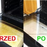 wyczyścić szybę w piekarniku